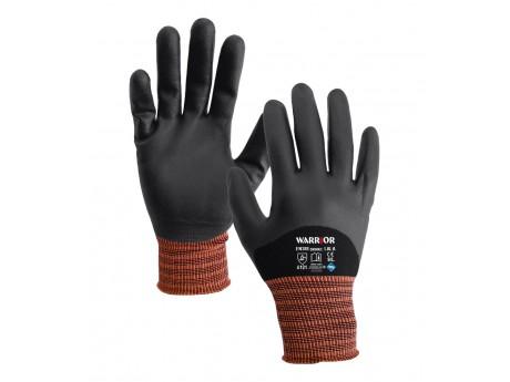 Black Nitrile Knuckle Coated Glove - 0111BKNKC