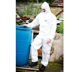 Warrior White Type 5&6 Coverall - 0117WC