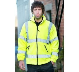 Warrior Hi-Vis Hudson Fleece Jacket Yellow - 0118FAGF