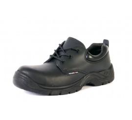 Warrior Black Non-Metallic Safety Shoe - 0118MMS19