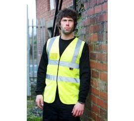 Warrior Hi Vis Waistcoat With I.D Pocket - Yellow - 0118WFAGID