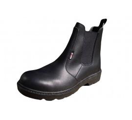 Warrior Dealer Style Black Safety Boot - 0118MMB39