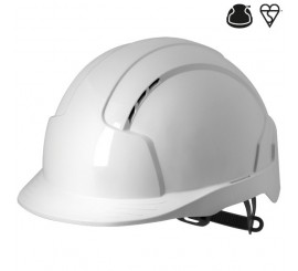 JSP Evolite® Vented, Standard Peak, One Touch™ Slip Ratchet Helmet- 01AJB160