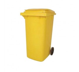 140 Litre Yellow Wheelie Bin - 01WBY140
