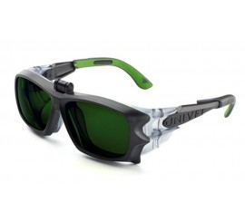 Univet 5x9 Flip-Up Gun Metal With Green Lens - 015X9R0050