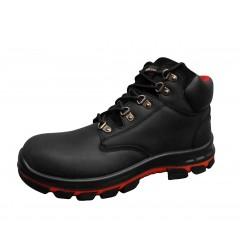 Black Waxy Full Grain Leather Boot - 0118MMB45