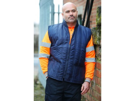 Warrior Navy Nylon Bodywarmer - 0118BWN