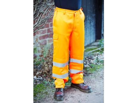 Warrior Hi Vis Delray Trousers Orange - 0118DELO