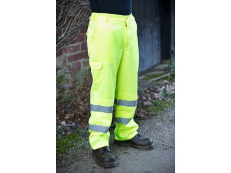 Warrior Hi Vis Delray Trousers Yellow - 0118DELY