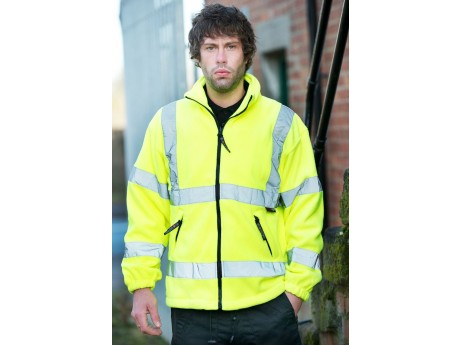 Warrior Hi-Vis Hudson Fleece Jacket Yellow - 0118FAGF
