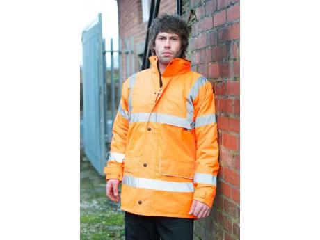 Warrior Hi Vis Nevada Coat Orange - 0118FAGO