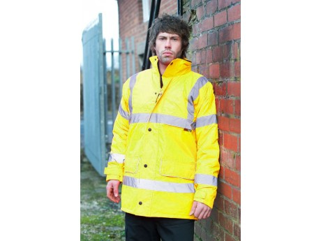 Warrior Hi-Vis Nevada Coat Yellow - 0118FAG