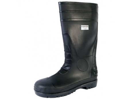 Warrior Safety Wellington Boot Black - 0118FWS