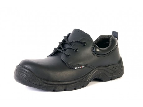 Warrior Black Non-Metallic Safety Shoe - 0118MMS19