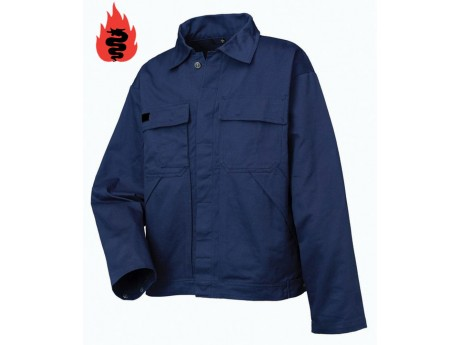 Warrior Navy Flame Retardant Jacket - 0118PJ