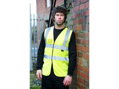 Warrior Hi Vis Waistcoat With I.D Pocket - Yellow - 0118WFAGID