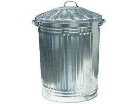 Galvanised Dustbin + Lid - 0124D2
