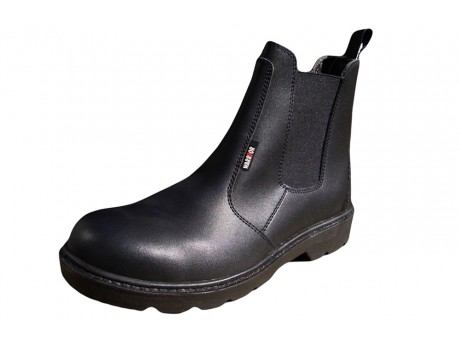 Warrior Dealer Style Black Safety Boot - 0118MMB39