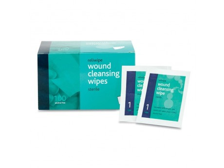 Alcohol Free Sterile Wipes (Box of 100) - 01FAFW100
