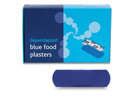 Blue Plasters 7.5cm x 2.5cm (Pack of 100) - 01FPB7525