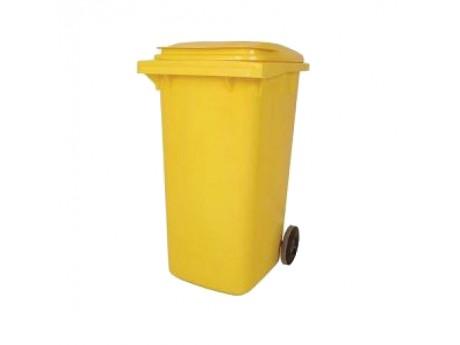 140 Litre Yellow Wheelie Bin - 01WBY140
