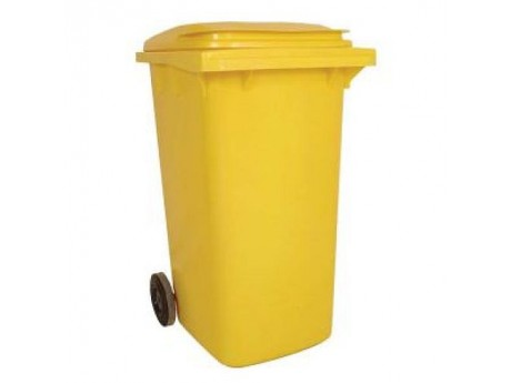 240 Litre Yellow Wheelie Bin - 01WBY240