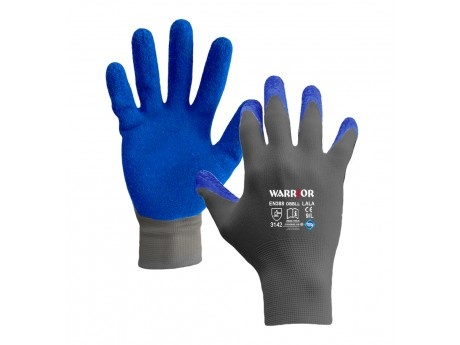 Blue Latex Wrinkle Open Back Glove - 0111OBBLL