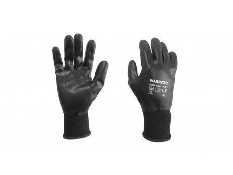 Warrior Black F/C Nitrile Glove - 0111WBNFC