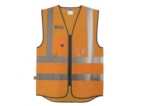 Warrior Hi-Vis Orange Executive Waistcoat - 0118WEXFAGO