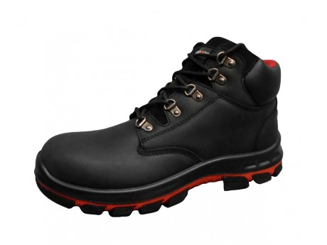 Black Waxy Full Grain Leather Boot - 0118MMB45