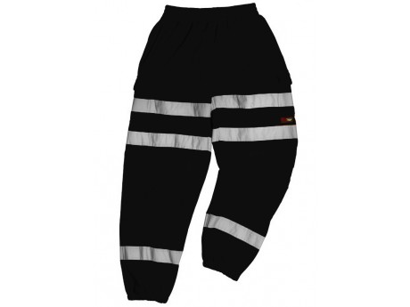 Warrior Georgia Black Hi-Vis Stripe Jogger - 0118GEORGIAB