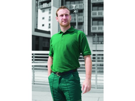 Warrior Heavy Duty Polo Shirt Bottle Green - 01HL211BG