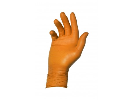 Warrior Dracogrip Orange Fishscale Grip Glove (Box of 50) - 01DGFSGGOR24