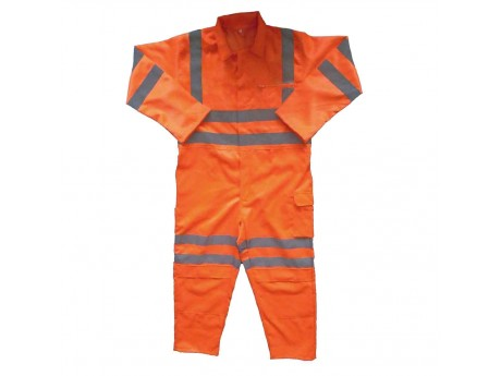 Warrior Rail Spec H-Vis Coverall Orange Regular - 0118RSCOV1