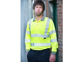 Warrior Long Sleeved Orlando Polo Yellow - 0118DAYBY