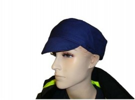 Pork Pie Hats Navy Cotton Drill - 0118PN