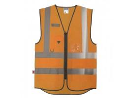 Warrior Hi-Vis Orange Executive Waistcoat - 0118WEXFAGO