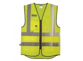 Warrior Hi-Vis Yellow Executive Waistcoat - 0118WEXFAGY