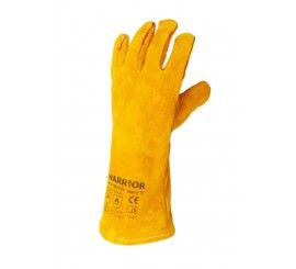 Warrior Yellow Leather Welders Gloves (Pack of 6) - 01PK11W+YW