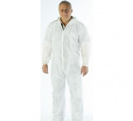 Warrior White Polyprop Coverall - 0117BPW