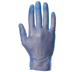 Warrior Blue Powder Free Vinyl Gloves (Medical Grade) - 0117MGPFBV