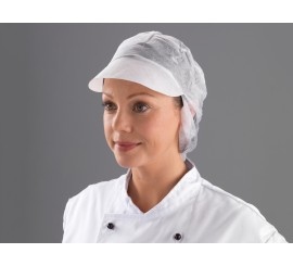 White Snood Cap - 0117SC