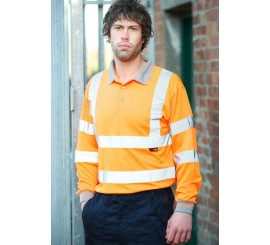 Warrior Long Sleeved Orlando Polo Orange - 0118DAYBO
