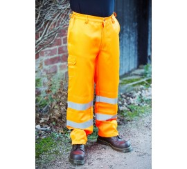 Warrior Hi Vis Delray Trousers Orange - 0118DELO