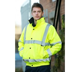 Warrior Hi Vis Memphis II Bomber Jacket - Yellow - 0118FAGB