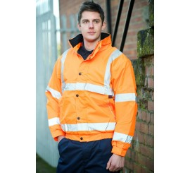 Warrior Hi Vis Memphis II Bomber Jacket Orange - 0118FAGBO
