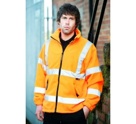 Warrior Hi-Vis Hudson Fleece Jacket Orange - 0118FAGFO