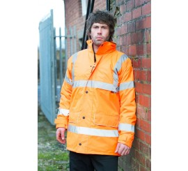 Warrior Hi Vis Nevada Coat Orange - 0118FAGO