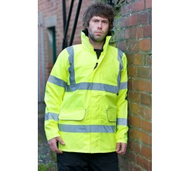 Warrior Hi Vis Newark Jacket Yellow - 0118FAGS