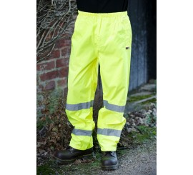 Warrior Hi Vis Seattle Trousers Yellow - 0118FAGTR